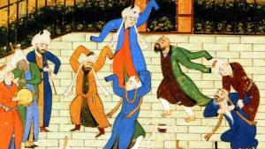 رسم من ديوان الشاعر الفارسي شمس الدين محمد حافظ الشيرازي. Quelle: picture-alliance