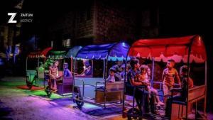 قطار العيد للاطفال في إدلب السورية