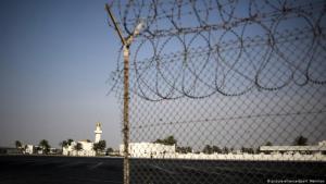 (photo: picture-alliance/dpa/Valeriy Melnikov)صورة للحدود المغلقة بين قطر والسعودية.