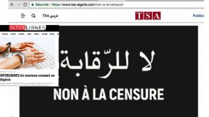 مواقع متضررة من حملة لحجب المواقع وملاحقة الصحافيين في الجزائر.
