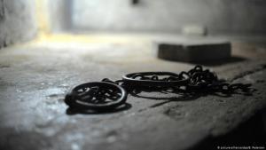 صورة رمزية عن العبودية. Foto: picture-alliance/dpa/B.Pedersen