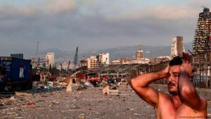 انفجار مرفأ بيروت - تسبت الانفجار  بتحول مرفأ بيروت والمنطقة المجاورة له إلى أنقاض - لبنان. Getty Images/AFP/A. Amro