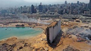 لبنان الجريح. بيروت بعد الدمار الذي لحق بها.