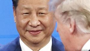 الرئيس الصيني شي جين بينغ والرئيس الأمريكي دونالد ترامب في قمة مجموعة العشرين في الأرجنتين ديسمبر 2018. (photo: picture-alliance/dpa/Maxppp)