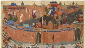 حصار بغداد 1258 – العراق. (source: Sayf al-vâhidî et al.  Public domain)