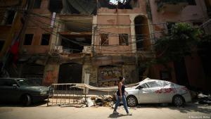 بنايات مدمرة بسبب انفجار مرفأ بيروت في تاريخ 04 / 08 / 2020 - لبنان. Foto: Reuters/H.MacKay