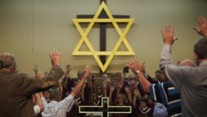 """صورة من الفيلم الوثائقي """"ليأتِ ملكوتك""""  - الدين في سياسة أمريكا - دور الإنجيليين الأمريكان في صراع الشرق الأوسط.  Foto: NDR/Met Film Sales/Abraham (Abie) Troen"""