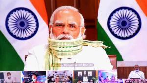 رئيس الوزراء الهندي انقلاب ناريندرا 10 / 09 / 2020.  (photo: Manish Kumar)