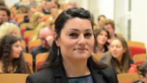 لمياء قدور معلمة تربية إسلامية ومرشدة دينية وكاتبة من أصل سوري في ألمانيا.   Foto: Fachhochschule Münster