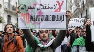 احتجاجات في الجزائر العاصمة ضد النظام الحاكم. Foto: picture-alliance/dpa/F.Batiche