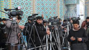 صحفيون أفغان.  (Foto: Marian Brehmer)