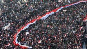 """عشر سنوات مرت على اندلاع ثورة 25 يناير في مصر، والتي كانت أبرز شعاراتها """"عيش (عمل ومصدر دخل كريم) حرية، عدالة اجتماعية، كرامة إنسانية""""."""