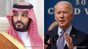 بايدن يرفض الحديث مع الأمير محمد بن سلمان، ويتواصل مباشرة مع الملك سلمان; (Foto: Balkis Press/Abaca/picture-alliance und Evan Vucci/AP/picture-alliance)