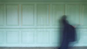 """""""""""العُشبُ أخضَر، السَّماءُ زَرقاء، وهي سَوداء"""" [""""چمن سبز، آسمان آبی و او سیاه است""""]، عمل تصويري، 2017 (حقوق النَّشر: پَرَستُو فُرُوهَر)  (© Parastou Forouhar)"""