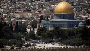 المسجد الأقصى أو جبل الهيكل في القدس.  (Foto: Getty Images/AP)