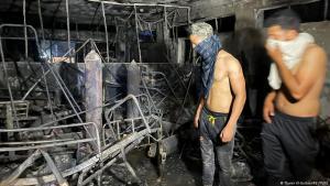 """وفاة 82 شخصاً وإصابة 110 آخرين بحريق مستشفى """"ابن الخطيب""""  في بغداد - العراق"""