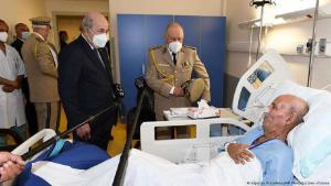 زعيم جبهة البوليساريو إبراهيم غالي في مستشفى - الجزائر العاصمة. Foto: Algerian Presidency/AP Photo/picture-alliance