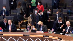 في بلجيكا - قمة بروكسل للناتو -  إردوغان (تركيا) وجونسون (بريطانيا) وماكرون (فرنسا) وبايدن (أمريكا).