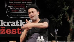 """الروائي العراقي حسن بلاسِم  30 مايو 2017، زَغرب، كرواتيا – المهرجان الأوروبي للقصَّة القصيرة – أثناء احتفال """"جائزة القصة القصيرة"""". (الصورة: تُوميسلاڤ ميليتيتش)  (photo: Tomislav Miletic/PIXSELL)"""