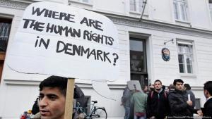 مظاهرات لاجئين في الدنمارك