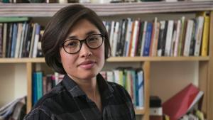 الكاتبة الأفغانية ريحانة رَها. (photo: Asghar Nour Mohammadi)