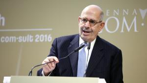 محمد البرادعى، المدير العام السابق للوكالة الدولية للطاقة الذرية، الحائز على جائزة نوبل للسلام. (photo: Getty Images)