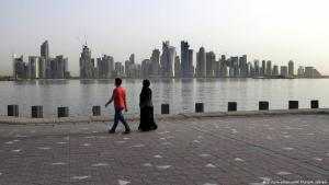 منظر من الدوحة - عاصمة قطر. Katar Qatar Doha Blick auf die Skyline Foto Picture Alliance
