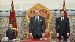 توجه الملك بخطاب للشعب يوم 9 مارس 2011 أعلن فيه عن إصلاحات جديدة. (Foto: picture alliance/ dpa)