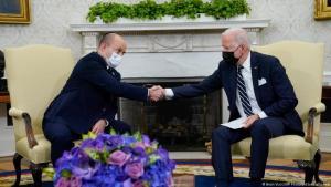 الرئيس الأمريكي جو بايدن ورئيس الوزراء الإسرائيلي نفتالي بينيت