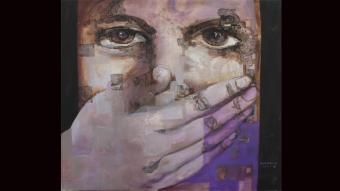 الصمت..الصورة للفنانة السورية علا الأيوبي