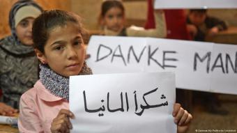 لاجئون سوريون يشكرون المانيا