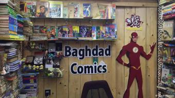 إلى جانب مجلات كومكس والكتب النادرة يعرض نادي Baghdad Comics مجسمات تمثل أبطالا وشخصيات مستوحاة من أبطال الكومكس والكتب القديمة، ومنها فيغرز سوبرمان وباتمان والرجل البرق، ويقول رياض أحمد إن وصول هذه المجسمات إلى بغداد صعب، فيتلف أغلبها في الطريق، أما ما يصل منها سالما فيباع بأسعار خيالية.