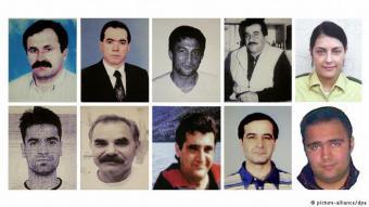 10 ضحايا قُتلوا بدم بارد: تسعة من الضحايا لهم جذور مهاجرة، كانوا يعيشون كلهم في ألمانيا. كما تم قتل شرطية ألمانية من قبل المجموعة الإرهابية. وقد قُتل الضحايا بدم بارد.
