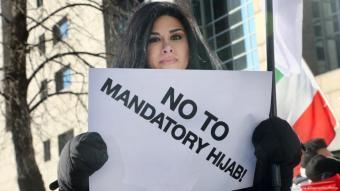تظاهرات ضد يوم الحجاب العالمي.