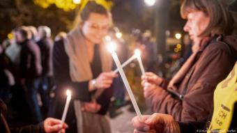 في كنيس يهودي بهانوفر الألمانية أقامت منظمات يهودية فعاليات لمناهضة العنصرية ومعادة السامية