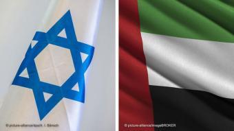 """الإمارات والدولة العبرية تعلنان التطبيع الكامل: توصلت الإمارات وإسرائيل عام 2020 إلى """"اتفاق سلام تاريخي""""، بحسب الرئيس ترامب الذي قال إنهما تباشران لقاءات لعقد اتفاقيات عدة. وتعد الإمارات أول بلد خليجي يعلن عن تطبيع كامل مع إسرائيل. محمد بن زايد أعلن في تغريدة أنه تم في اتصال مع ترامب ونتنياهو """"الاتفاق على إيقاف ضم إسرائيل للأراضي الفلسطينية. بيد أن رئيس الوزراء الإسرائيلي بنيامين نتانياهو رد بأن مخطّط الضمّ """"تأجّل"""" لكنّه """"لم يُلغَ""""."""