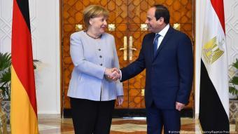 الرئيس المصري عبد الفتاح السيسي والمستشارة الألمانية أنغيلا ميركل.