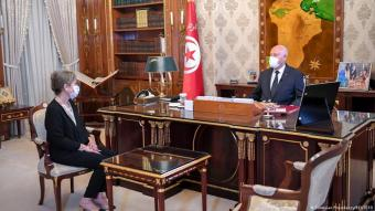 الرئيس التونسي قيس سعيِّد اختار نجلاء بودن رمضان في منصب رئاسة الحكومة في تونس. Tunesien Premierministerin Najla Bouden und Kais Saied President of Tunisia FOTO REUTERS