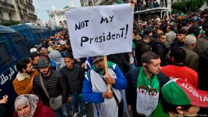 احتجاجات في 13 ديسمبر / كانون الأول 2019 ضد انتخاب عبد المجيد تبون رئيسا جديدا للجزائر. Foto: AFP/Getty Images