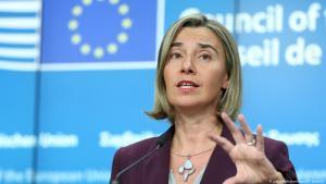 فيديريكا موغيريني هي ممثلة الاتحاد الأوروبي السامية السابقة للشؤون الخارجية والسياسة الأمنية، ونائبة رئيس المفوضية الأوروبية، ووزيرة إيطالية للشؤون الخارجية والتعاون الدولي. (photo: picture-alliance/abaca/D. Aydemir)